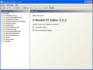 Welcome Screen of the V-Modell XT Editor