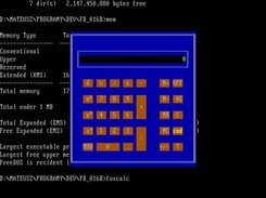FoxCalc in FreeDOS