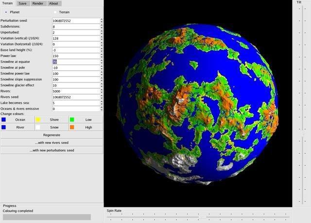 Random World Map Generator Free. Early version of fracplanet Fracplanet download  SourceForge net