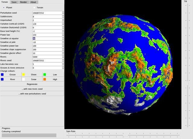 John mcconnells earth day flagedit screen shot of map a planet early version of fracplanet gumiabroncs Image collections