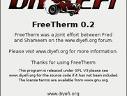 FreeTherm About Dialog Box