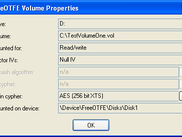 Volume properties.