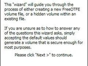 Volume creation wizard to guide you through the process of c