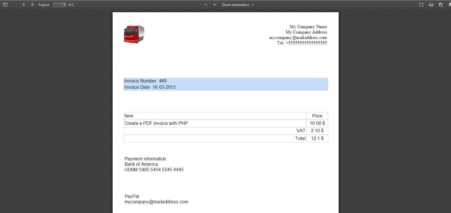 FREE PHP Script To Create PDF Invoices Download SourceForgenet - Php invoice script