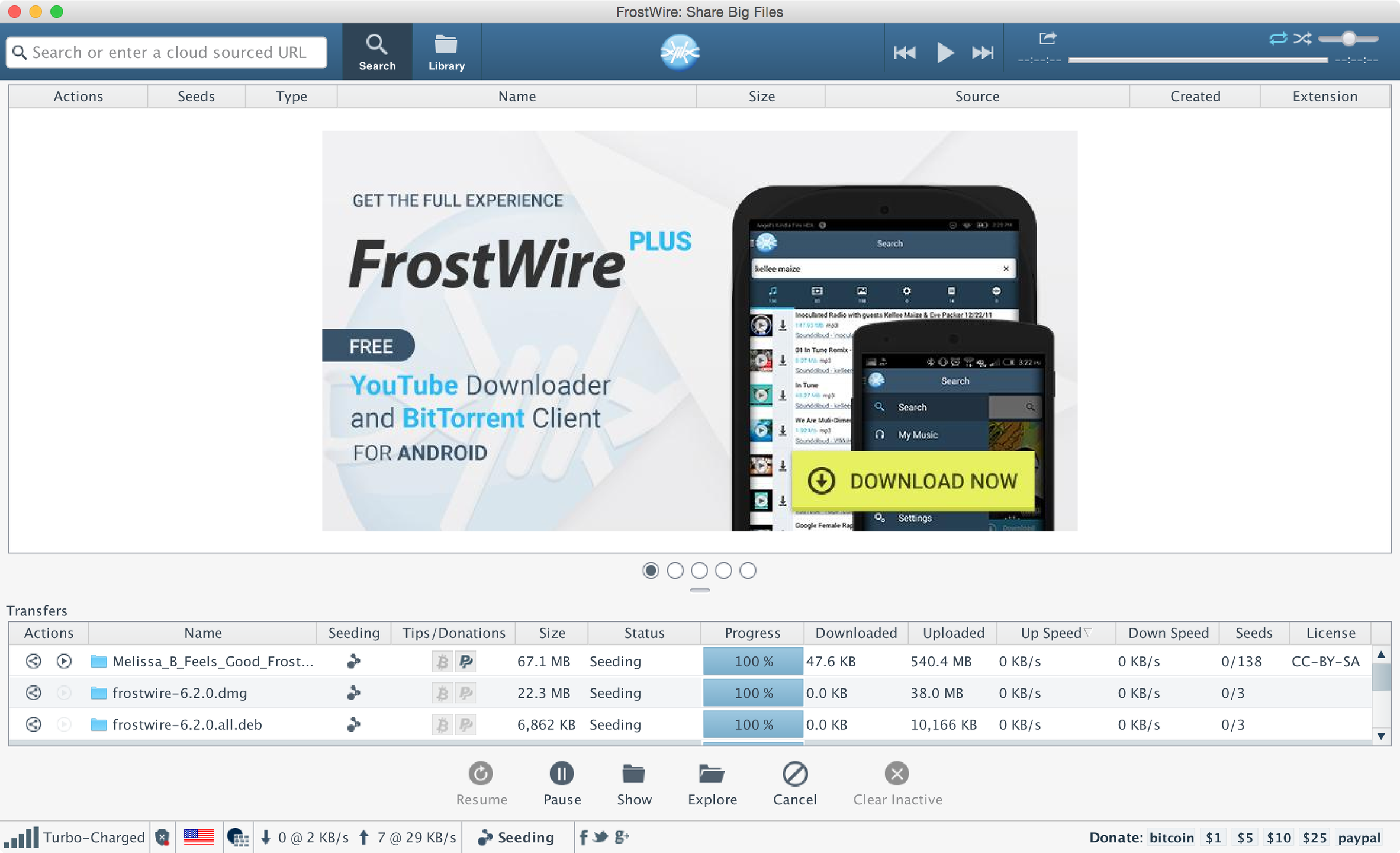 FrostWire download | SourceForge net