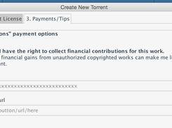 Attach Bitcoin or Web URLs to accept tips/donations on your shared content