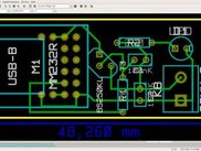 PCB of the module using FTDI MM232R made using Kicad / Linux