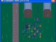 The rain example (with a custom scripted particle system)