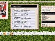Home page with main league table.