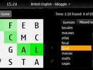 GBoggle screenshot 3 (maemo)
