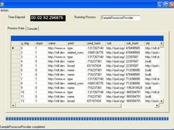 generic process sample application GUI data set screen