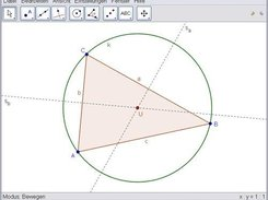 Triangle with its circumcircle