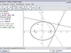 Ellipse with two tangents