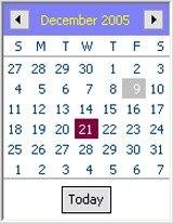 Date Picker Screen Shot