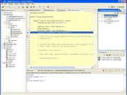 Overview of the workbench - Code is currently debugging