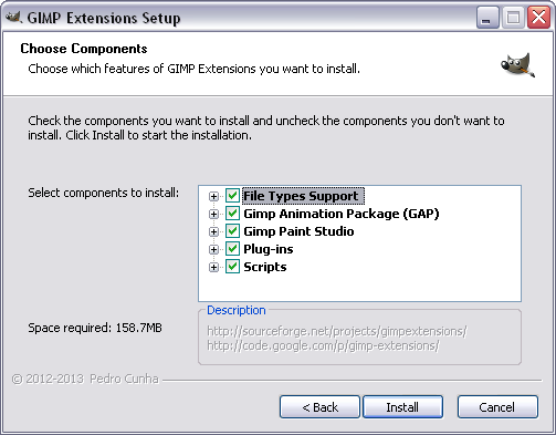 Gimp extensions download sourceforge components selection page fandeluxe Image collections