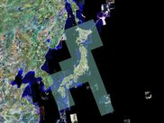satelite images and map linked on the distribute environment