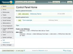 1.8.10: Control panel home