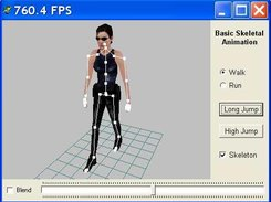 Skeletal animation of acter demo