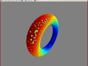 2: Warped torus created by exponentiating a pair of bivectors in CGA, plotted using Mayavi.