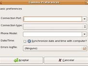 Upcoming preferences window
