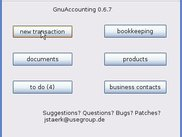 GnuAccounting 0.6.7 main screen