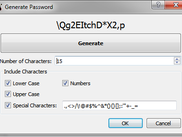 Generate random passwords