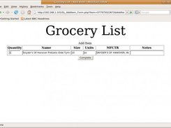 Adding a Bag of Pretzels using UPC barcode scan