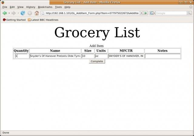 Grocery List download | SourceForge net