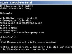 create configuration file