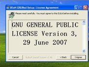 Uses the GNU GPL