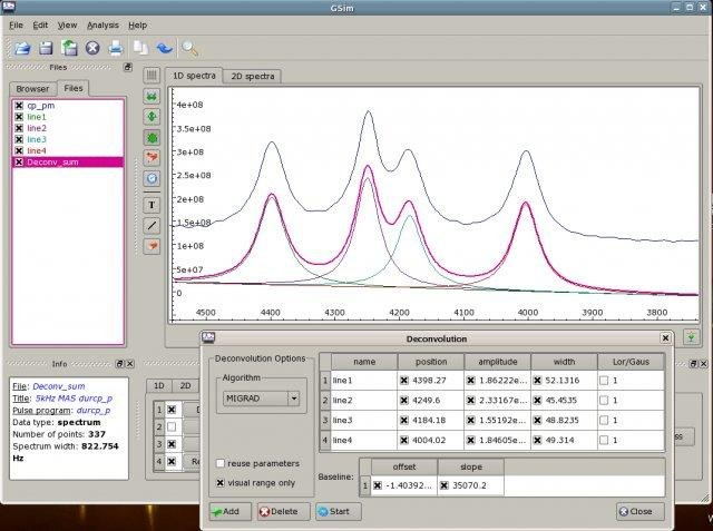 GSim - tool for NMR spectroscopy download | SourceForge net