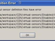 Error dialog showing VSD files that have errors