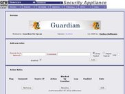 Guardian section of GTCop Professional Security Appliance