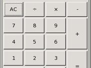 A simple calculator program. (Only 50 lines of GUI code!)