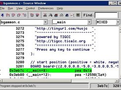 TiEmu (tigcc-debugging) Insight GDB Source Window, Windows