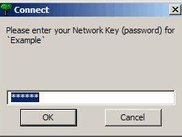 4) Optional: Supply password at Connect