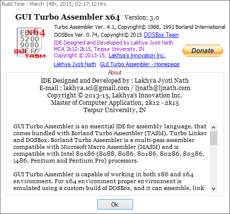 GUI Turbo Assembler (TASM) download | SourceForge net