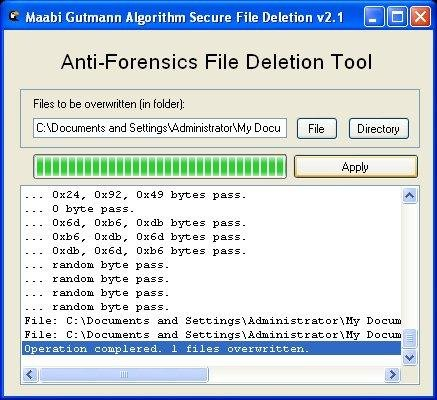 Gutmann Algorithm Secure File Deletion download