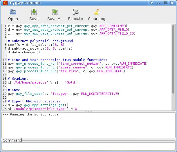 Gwyddion for Linux screenshot