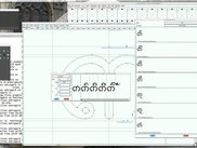 View of Hariphunchai font in progress in Fontforge