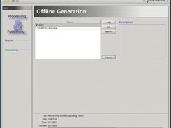 The offline generation section