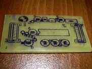 PCB top side with toner markings on it
