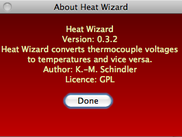 Heat Wizard on Mac OS X: About