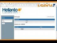4. Helianto user and group management