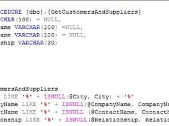 Report source query (SQL)