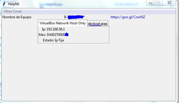 Programa para Obtener informacion de adaptadores de red
