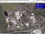 Google aerial and Maynoth campus with hiding persons
