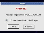 Port Scan warning - allows blocking the port scan source IP