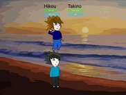 Takino jumped on Hikou :-)